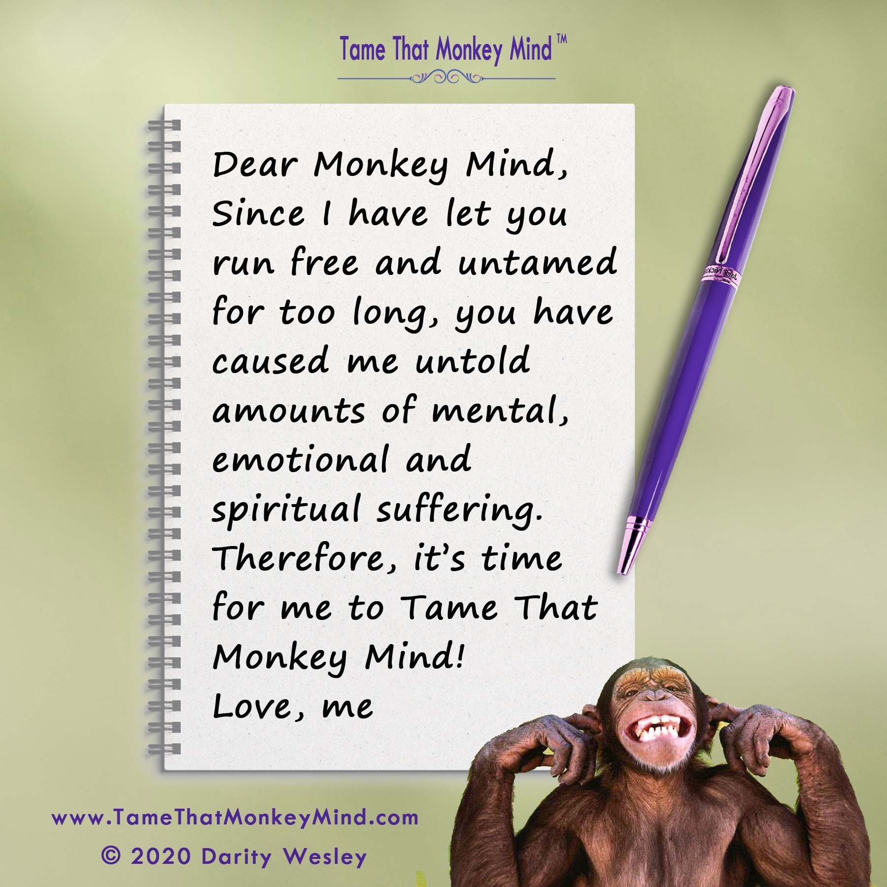 Dear Monkey Mind #1