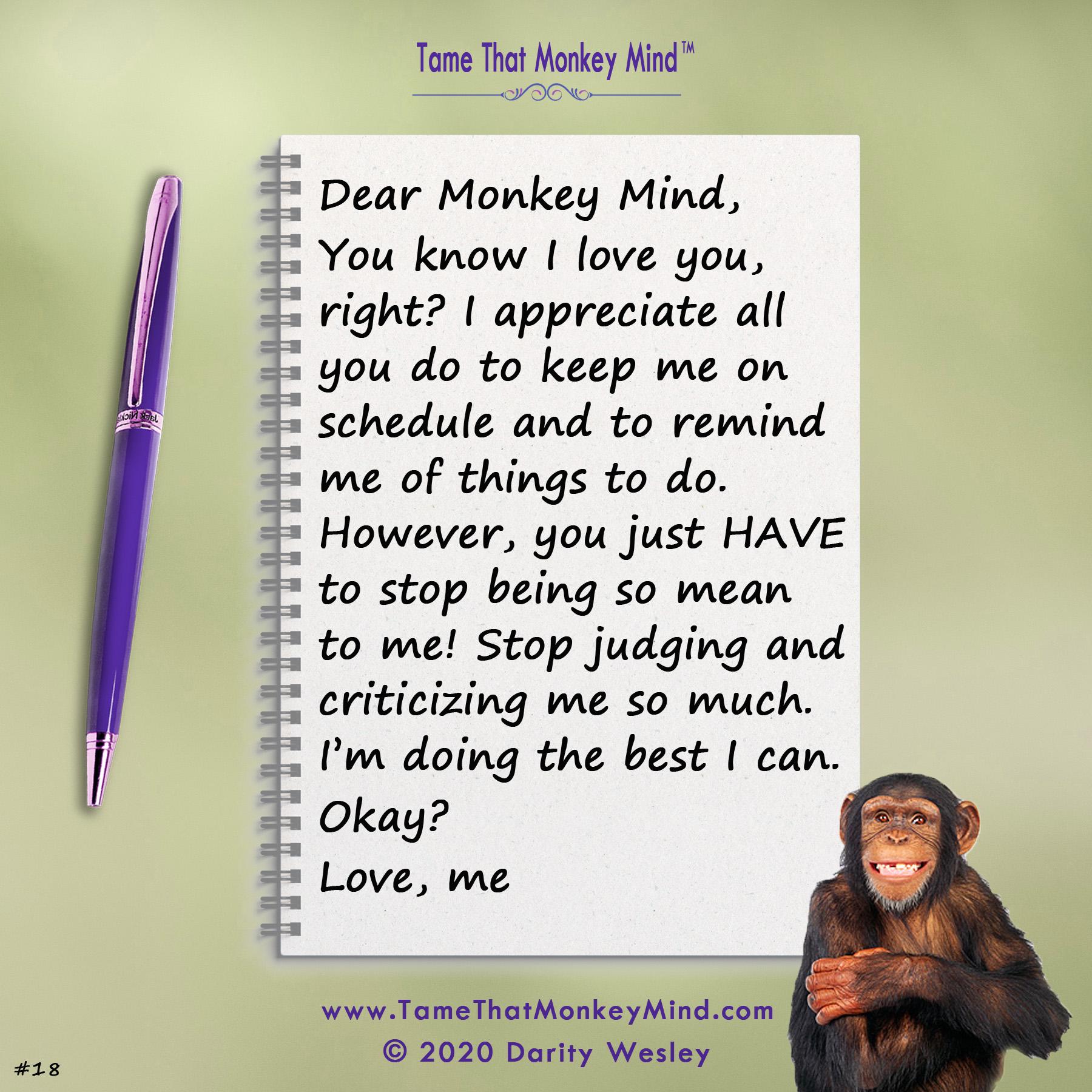 Dear Monkey Mind #18
