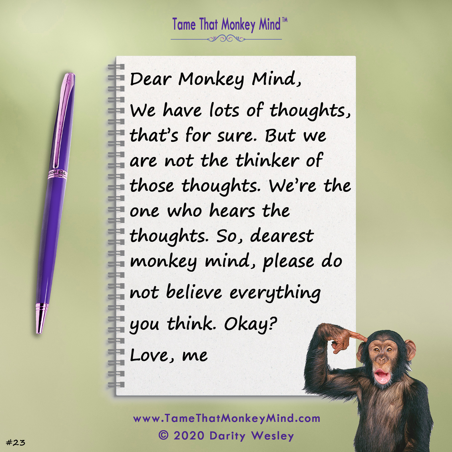 Dear Monkey Mind #23