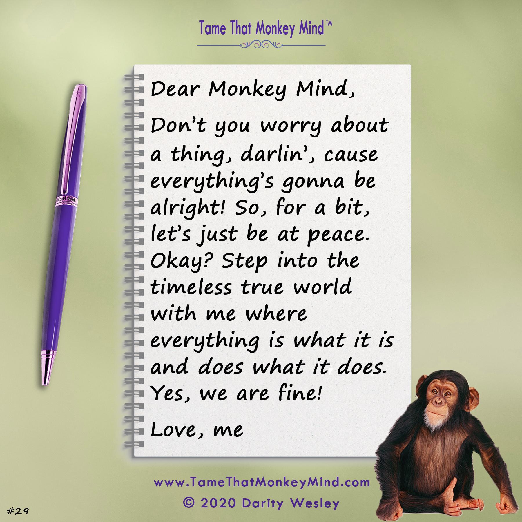 Dear Monkey Mind #29
