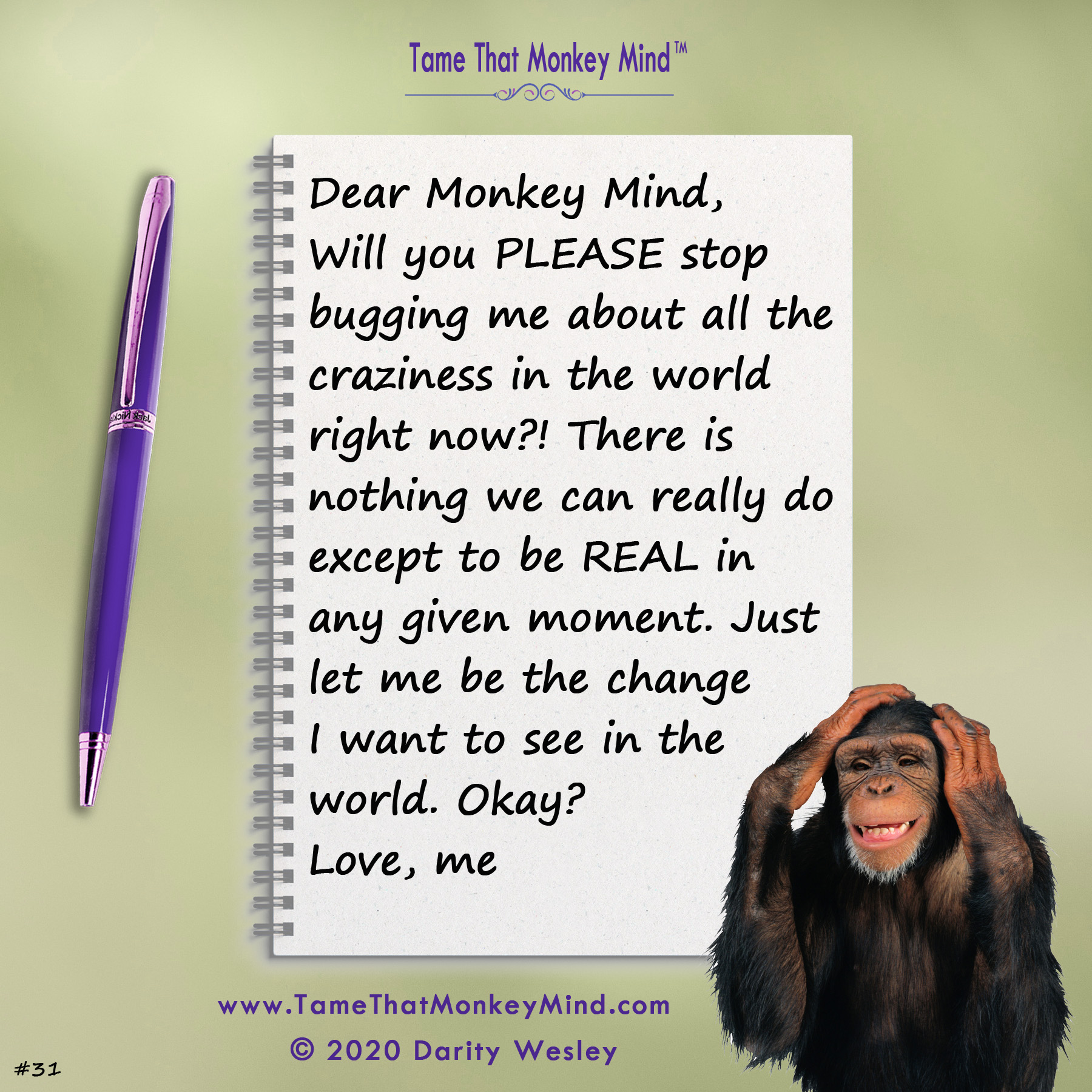 Dear Monkey Mind #31