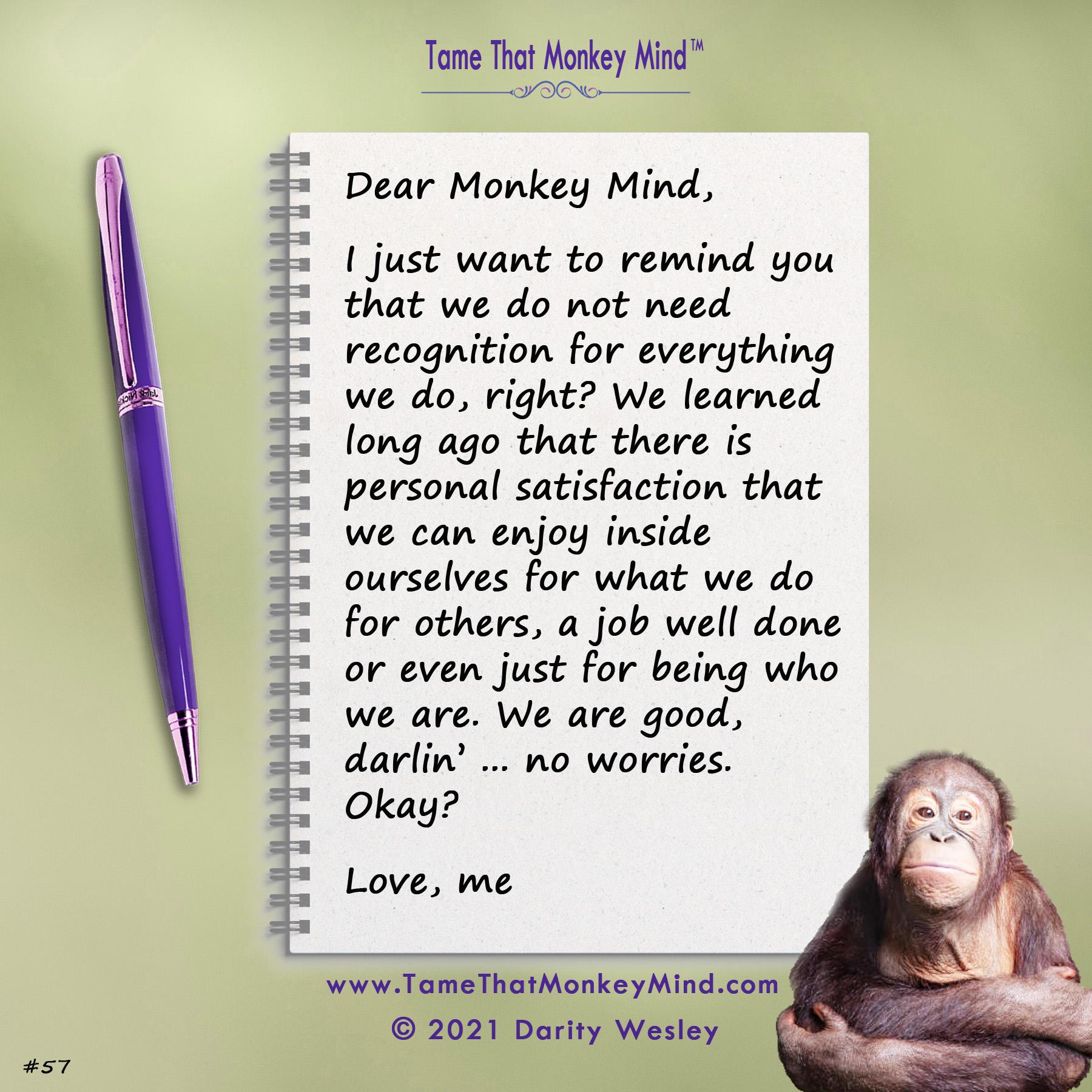 Dear Monkey Mind #57