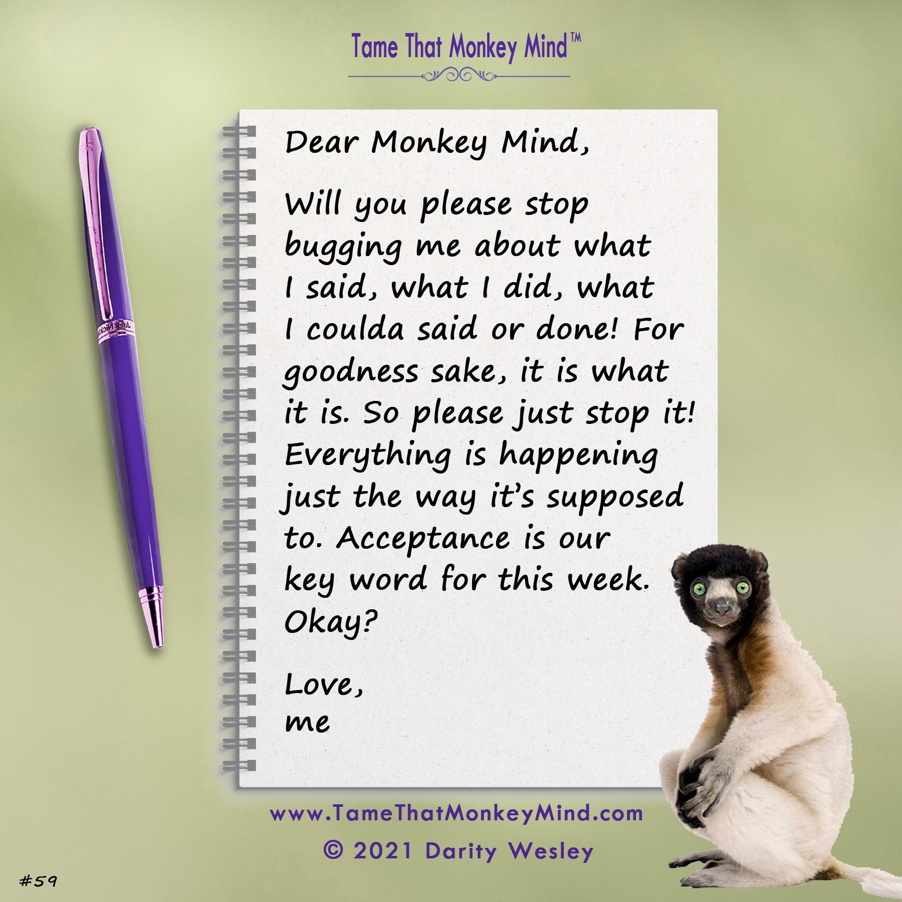 Dear Monkey Mind #59